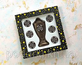 Шоколадный кубок с набором номинаций с Днем рождения