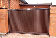 Откатные (сдвижные) ворота ТМ Хардвик ш3500, в2100 (дизайн стандарт), фото 2