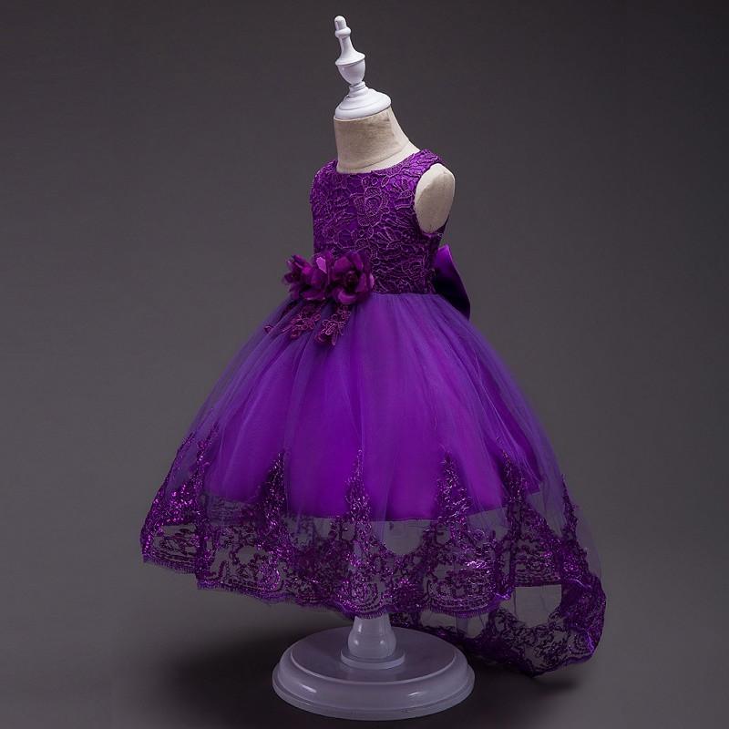 Нарядное каскадное фиолетовое платье. Ball gown purple2021