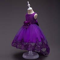 Нарядное каскадное фиолетовое платье. Ball gown purple2021, фото 1