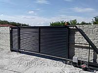 Откатные (сдвижные) ворота ТМ Хардвик ш3500, в2100 (дизайн стандарт), фото 4