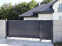 Откатные (сдвижные) ворота ТМ Хардвик ш3500, в2100 (дизайн стандарт), фото 5
