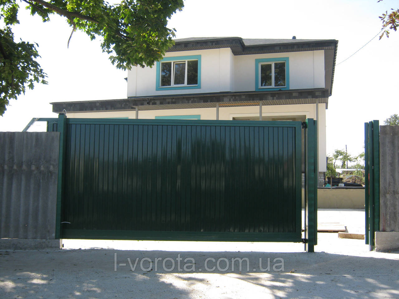 Откатные (сдвижные) ворота ТМ Хардвик 3500, 2100 (дизайн стандарт)