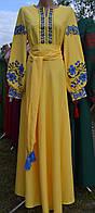 "Вишите плаття ""Афіна"" жовте"