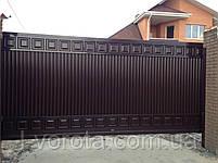 Откатные (сдвижные) ворота ТМ HARDWICK ш3500, в2100 (дизайн ЛЮКС), фото 2