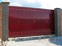 Откатные (сдвижные) ворота ТМ HARDWICK ш3500, в2100 (дизайн ЛЮКС), фото 3