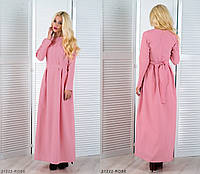 Лаконичное летнее платье-макси  с завязками на талии Sonia