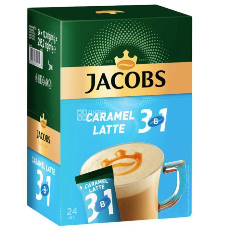 Кофейный напиток Jacobs 3в1 Caramel Latte (24X12,5 г)