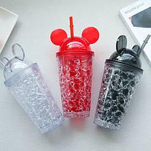 Охолоджуючий стакан «Mickey Mouse» стакан з трубочкою міккі маус