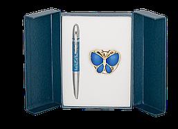 Набор подарочный Langres Papillon ручка шариковая + крючок для сумки фиолетовый
