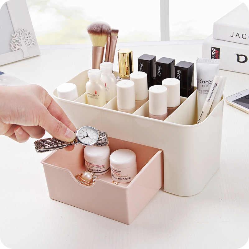 Пластиковый органайзер для косметики розовый