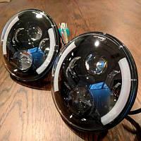 Универсальные светодиодные Led DRL фары 7 дюймов ДХО Ангельские глазки Нива Ваз 2121 Газ Камаз 2101 УАЗ 2102