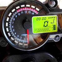 Универсальный мото спидометр панель приборов KOSO rx2n до 14000 оборотов/мин / Чёрный