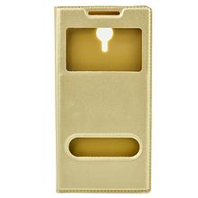 Чехол книжка кожаный SK Window для Lenovo Vibe C2 Power золотистый