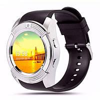 Часы наручные Smart Watch V8 Silver- СЕРЫЕ D1011