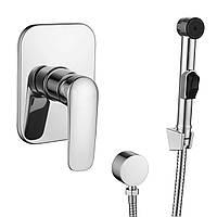 Набір для душу Imprese Praha New: змішувач прихованого монтажу + гігієнічний душ 🇨🇿