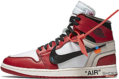 Женские кроссовки Nike Air Jordan 1 Retro High Off-White Chicago AA3834-101, Найк Аир Джордан 1