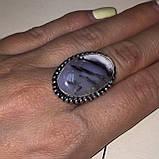 Кольцо овал дендритовый опал размер 16,5-17 кольцо с дендро-опалом в серебре Индия, фото 3