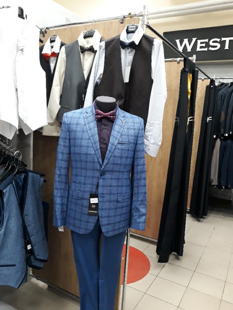 Пиджак мужской West-fashion модель А 180 ярко-синий