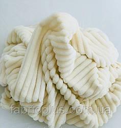 Плюшевая ткань Minky Stripes молочного цвета (шарпей) 160 см