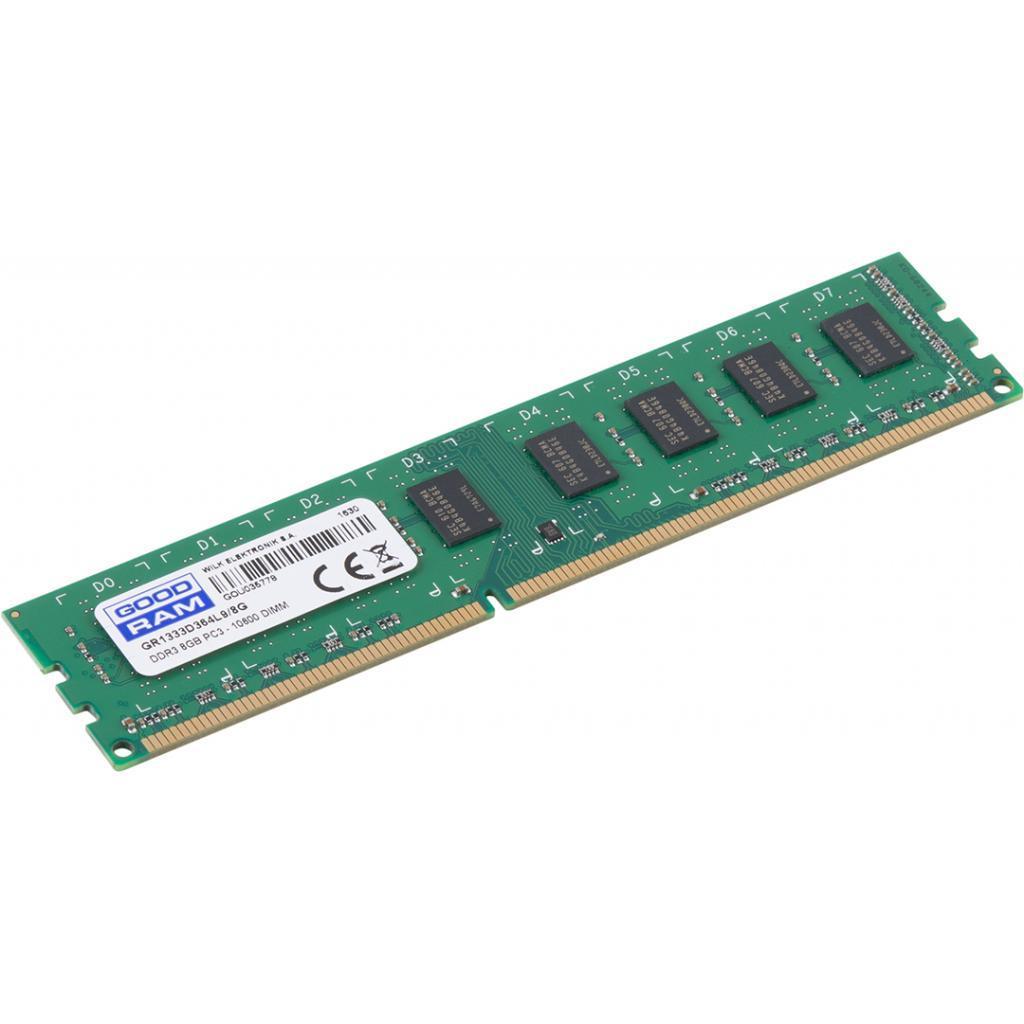 """Оперативная память GOODRAM 8GB DDR3 1333 MHz (GR1333D364L9/8G) """"Over-Stock"""" Б/У"""