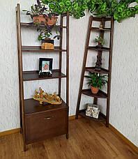 """Книжная полка, стеллаж для декора из массива дерева """"Лофт Премиум"""", фото 3"""