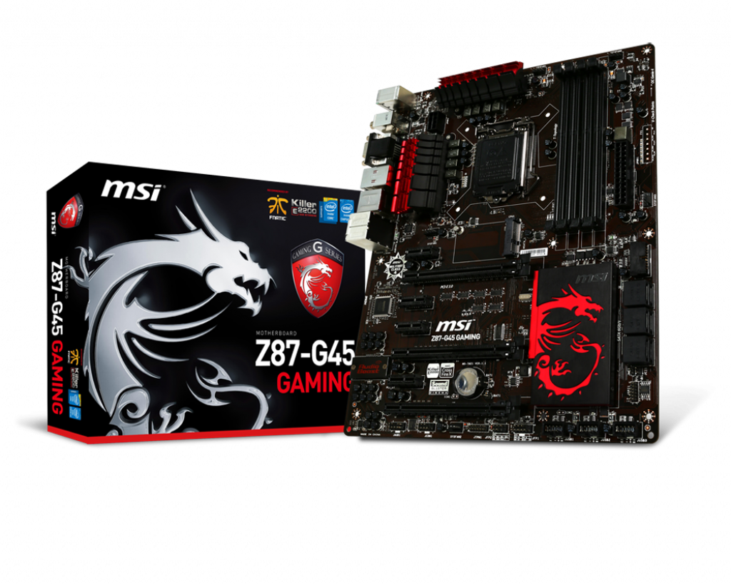 "Материнская плата MSI Z87-G45 GAMING Socket 1150  DDR3 ""Over-Stock"" Б/У"