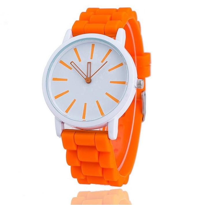 Наручные женские часы оранжевые Geneva