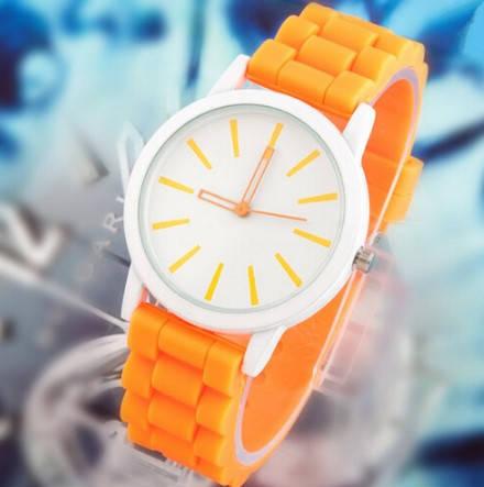 Наручные женские часы оранжевые Geneva, фото 2