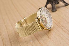 Женские часы Женева с цветами, фото 2