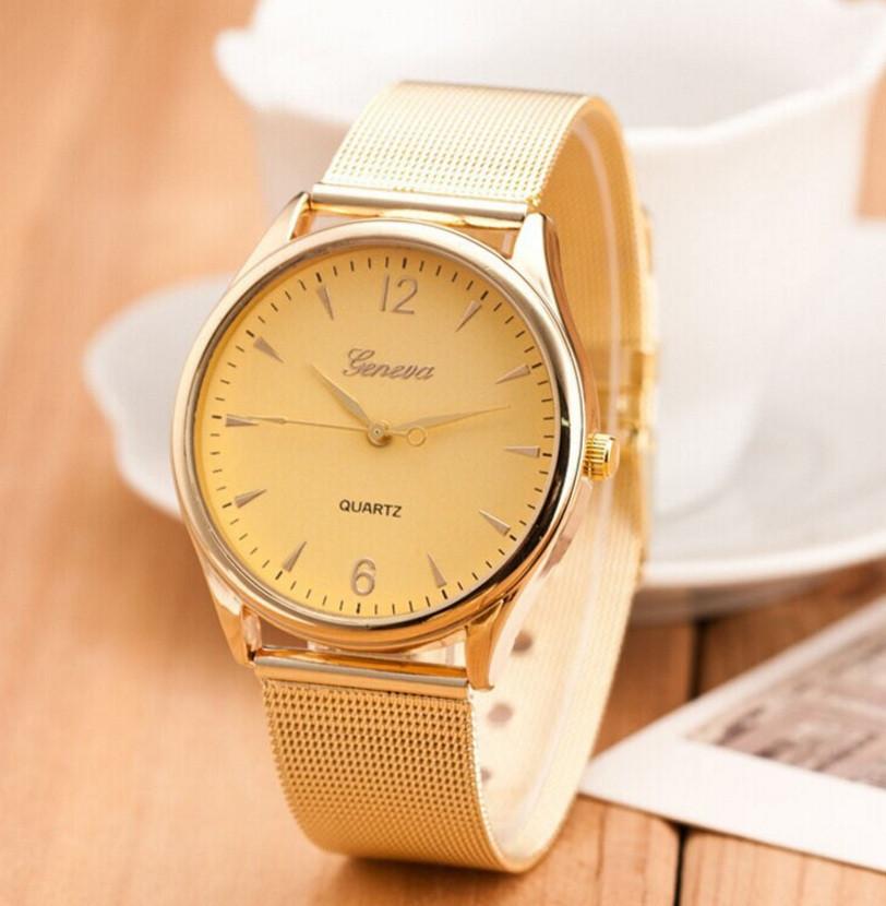 Часы женские металлические с позолотой