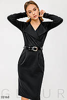 Черное деловое платье S M L XL 2XL 3XL 4XL