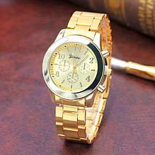 Золотистые часы для женщин Geneva