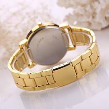 Золотистые часы для женщин Geneva, фото 3