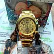 Золотистые часы для женщин Geneva, фото 2