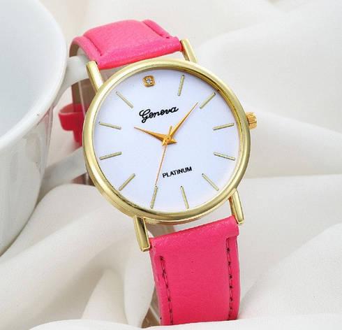 Стильные женские наручные часы розовые, фото 2