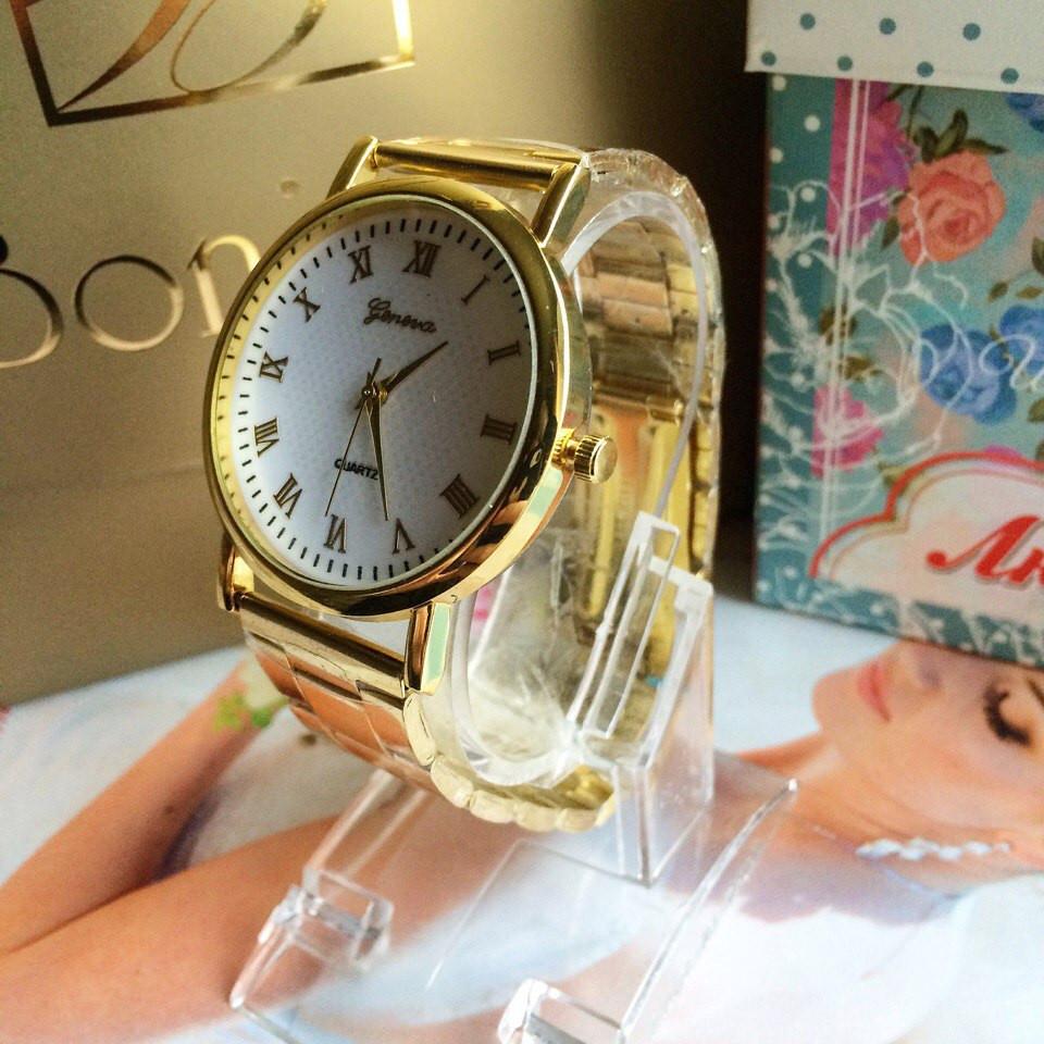 Золотые женские часы Женева