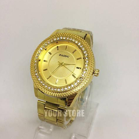 Женские наручные часы Paidu золотые, фото 2