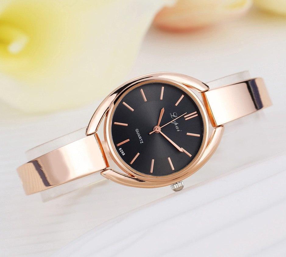 Женские часы браслет золото