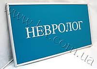 Табличка інформаційна, кабінетна, фасадна, навігаційна, виготовлена з ПВХ