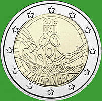 Эстония 2 евро 2019 г. 150-летие первого фестиваля песни . UNC