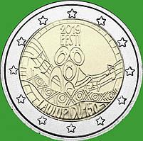 Естонія 2 євро 2019 р. 150-річчя першого фестивалю пісні . UNC