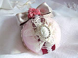 Модный дизайнерский декор - подарок с подставкой Розовый & бордо малый, фото 2