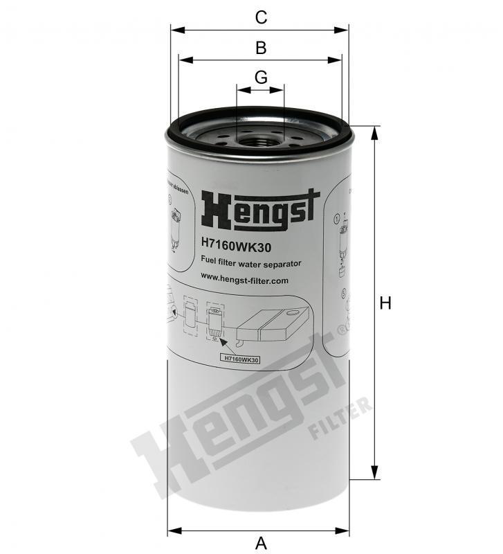 Паливний фільтр Hengst H7160WK30