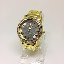 Женские наручные часы золотистые Geneva, фото 2