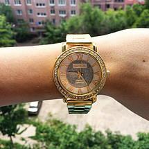 Женские наручные часы золотистые Geneva, фото 3
