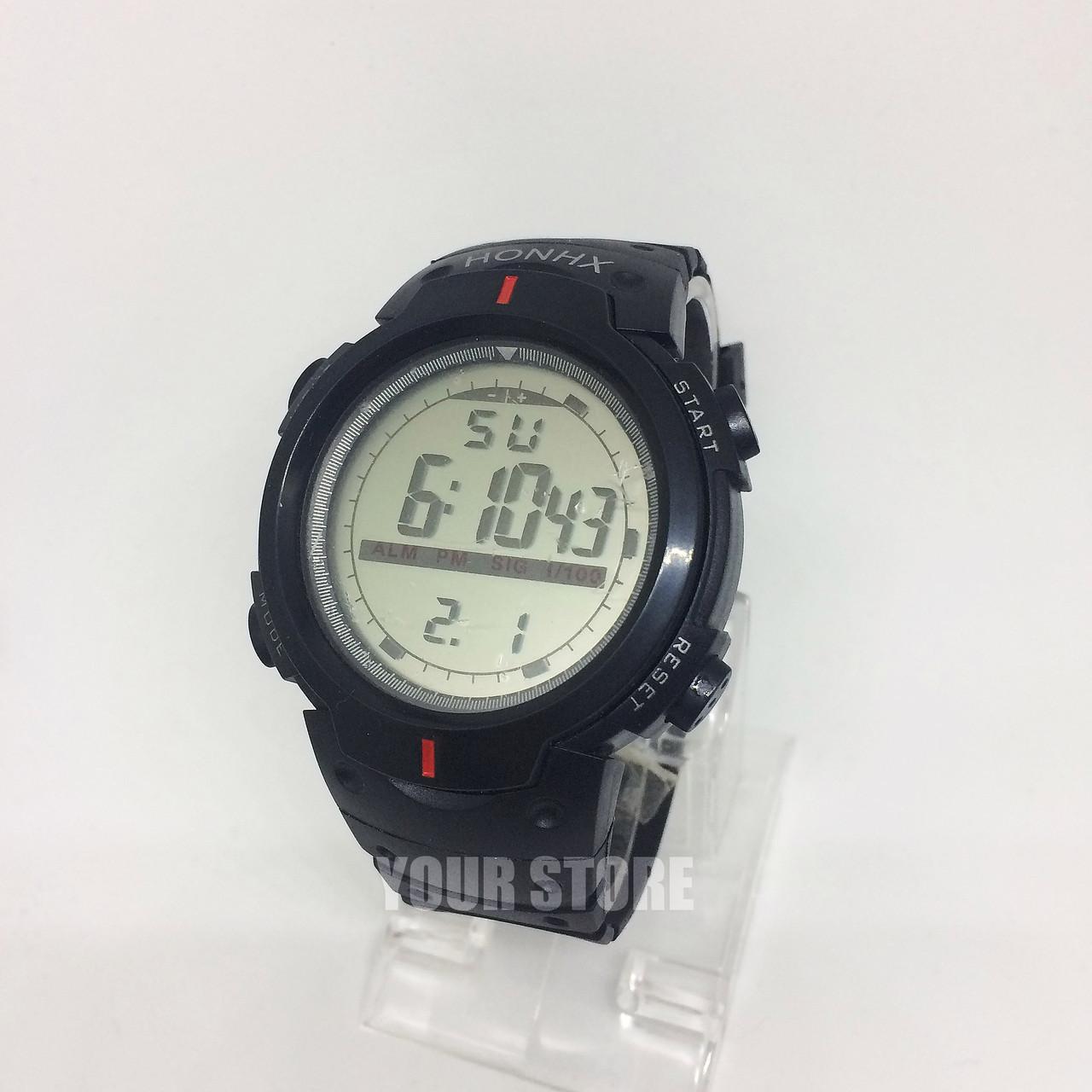 Мужские часы с секундомером и будильником