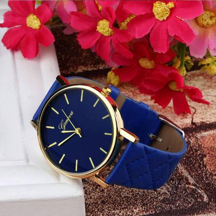Часы женские наручные синие, фото 2