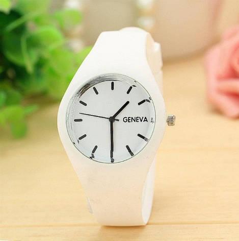 Часы женские силиконовые белые, фото 2