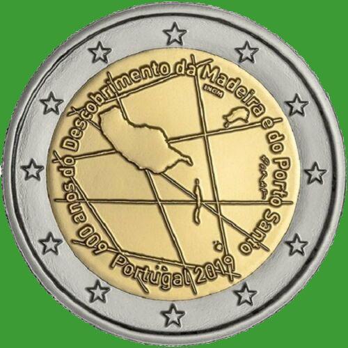 Португалия 2 евро 2019 г. 600-летие открытия острова Мадейра. UNC